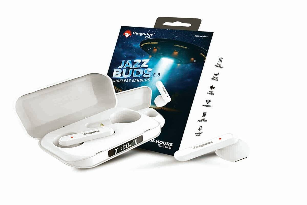 VingaJoy Jazz Buds 2. Wireless Earbuds: Listen to music with no wires